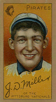 1911 Gold Borders Dots Miller #147 Baseball Card