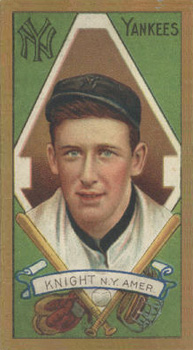 1911 Gold Borders Jack Knight #111 Baseball Card