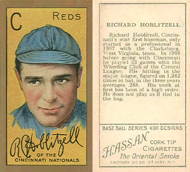 1911 Gold Borders Dick Hoblitzell #94 Baseball Card