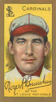 1911 Gold Borders (Broadleaf) Roger Bresnahan #23 Baseball Card
