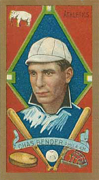 1911 Gold Borders (Broadleaf) Chief Bender #17 Baseball Card