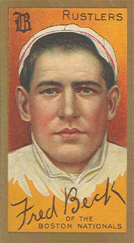 1911 Gold Borders (Broadleaf) Fred Beck #14 Baseball Card