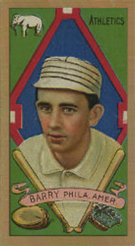 1911 Gold Borders (Broadleaf) Jack Barry #11 Baseball Card
