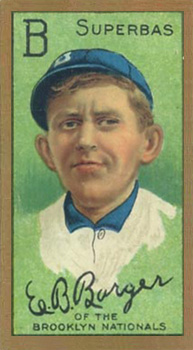 1911 Gold Borders (Broadleaf) Eros Barger #10 Baseball Card