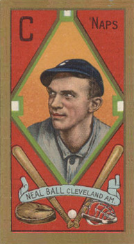 1911 Gold Borders (Broadleaf) Neal Ball #8 Baseball Card