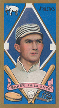 1911 Gold Borders (Broadleaf) Frank Baker #7 Baseball Card