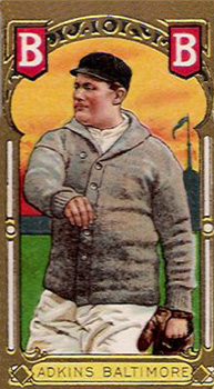 1911 Gold Borders (Broadleaf) Doc Adkins #2 Baseball Card
