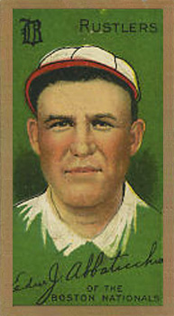 1911 Gold Borders (Broadleaf) Ed Abbaticchio #1 Baseball Card