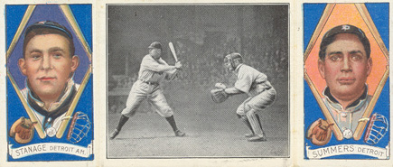 1912 Hassan Triple Folders Crawford about to Smash One #41 Baseball Card
