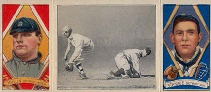 1912 Hassan Triple Folders Oscar Stanage #7 Baseball Card