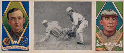 1912 Hassan Triple Folders Barney Pelty #2 Baseball Card