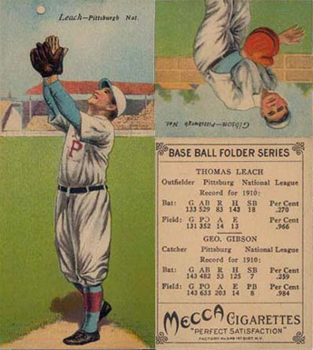 1911 Mecca Double Folders Gibson/Leach #33 Baseball Card