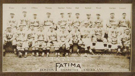 1913 Fatima Team Cards Boston Red Sox Team #9 Baseball Card