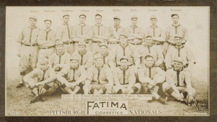 1913 Fatima Team Cards Pittsburgh Nationals #7 Baseball Card