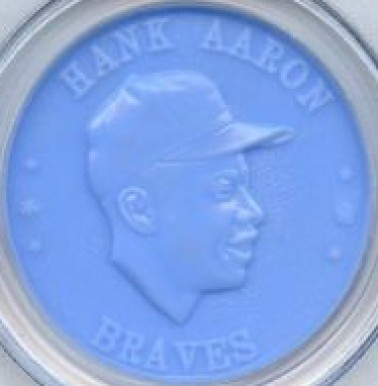 1959 Armour Coins Hank Aaron #1 Baseball Card