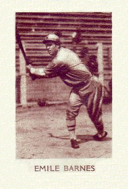 1928 1928 Star Player Candy Emile Barnes #2 Baseball Card