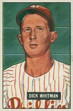 1951 Bowman Dick Whitman #221 Baseball Card