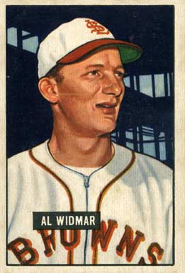 1951 Bowman Al Widmar #281 Baseball Card