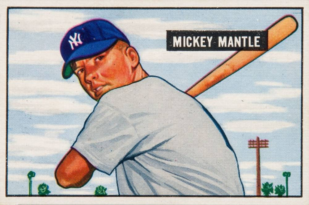 1951 Bowman Mickey Mantle #253 Baseball Card
