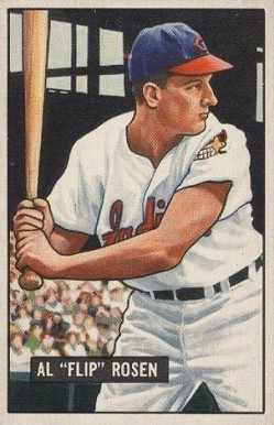 1951 Bowman Al Rosen #187 Baseball Card