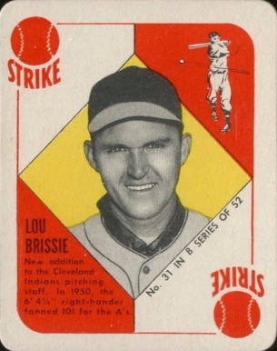 1951 Topps Blue Backs Lou Brissie 31 Baseball Vcp Price Guide