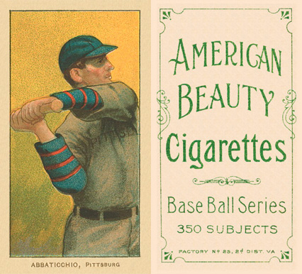 1909 White Borders (American Beauty Frame) Ed Abbaticchio #1 Baseball Card