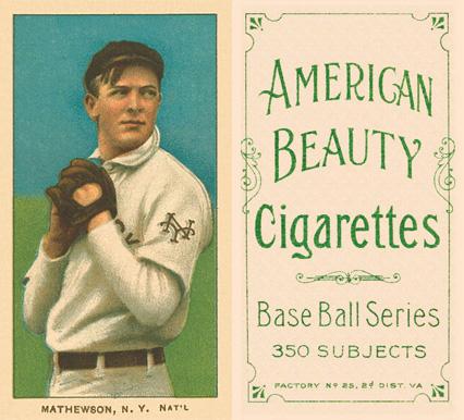 Christy Mathewson Hall Of Fame Baseball Cards