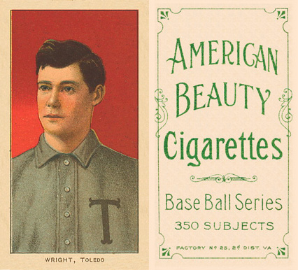 1909 White Borders (American Beauty Frame) Lucky Wright #520 Baseball Card