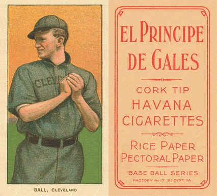 1909 White Borders (EPDG) Neal Ball #17 Baseball Card