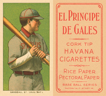 1909 White Borders (EPDG) Jap Barbeau #18 Baseball Card