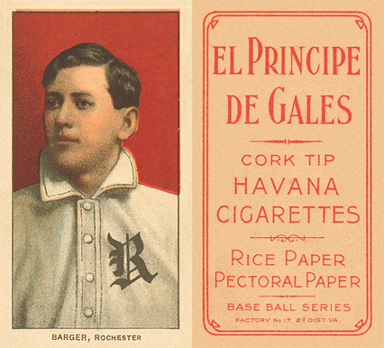 1909 White Borders (EPDG) Cy Barger #19 Baseball Card