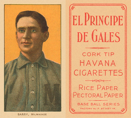 1909 White Borders (EPDG) Shad Barry #21 Baseball Card