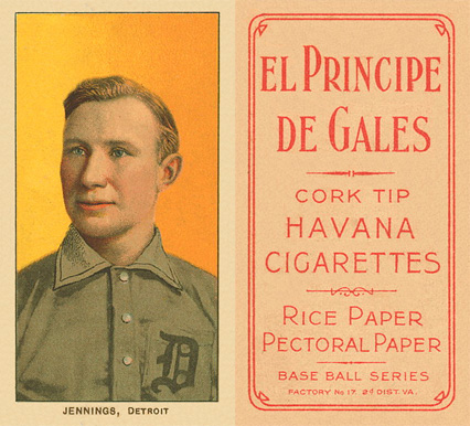 1909 White Borders El Principe De Gales Jennings, Detroit #234 Baseball Card