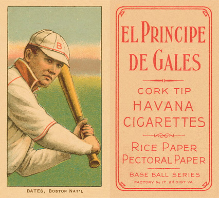 1909 White Borders (EPDG) Johnny Bates #24 Baseball Card