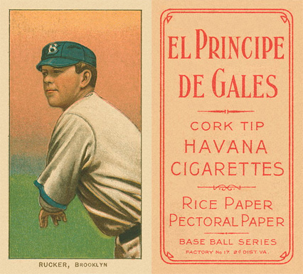 1909 White Borders El Principe De Gales Rucker, Brooklyn #417 Baseball Card