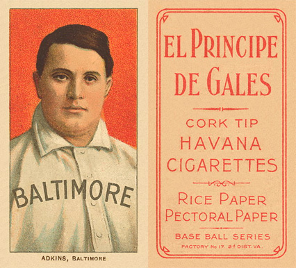 1909 White Borders (EPDG) Doc Adkins #5 Baseball Card