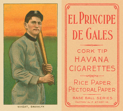 1909 White Borders (EPDG) Zach Wheat #503 Baseball Card