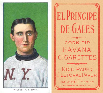 1909 White Borders (EPDG) Hooks Wiltse #518 Baseball Card