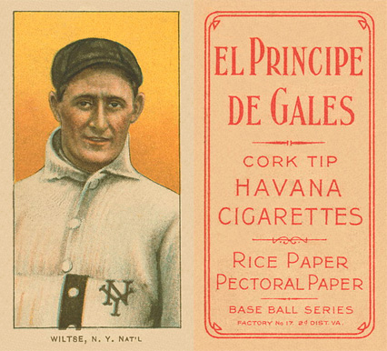 1909 White Borders (EPDG) Hooks Wiltse #519 Baseball Card