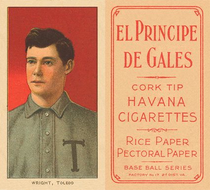 1909 White Borders (EPDG) Lucky Wright #520 Baseball Card
