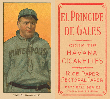 1909 White Borders (EPDG) Irv Young #524 Baseball Card