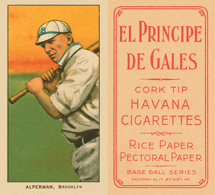 1909 White Borders (EPDG) Whitey Alperman #6 Baseball Card