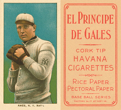 1909 White Borders (EPDG) Red Ames #7 Baseball Card