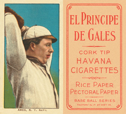 1909 White Borders (EPDG) Red Ames #8 Baseball Card