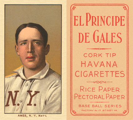 1909 White Borders (EPDG) Red Ames #9 Baseball Card