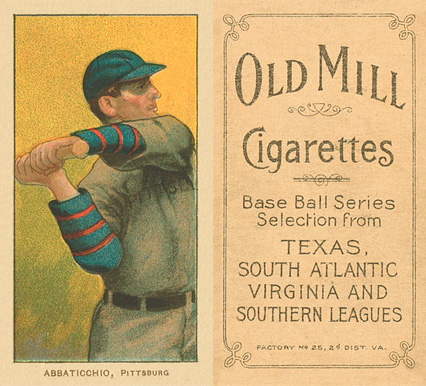 1909 White Borders (Old Mill) Ed Abbaticchio #1 Baseball Card