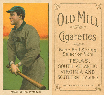 1909 White Borders (Old Mill) Ed Abbaticchio #2 Baseball Card