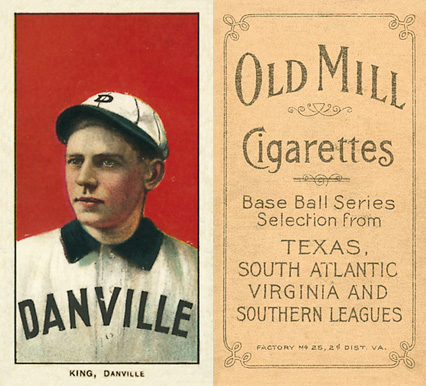 1909 White Borders Old Mill King, Danville #253 Baseball Card