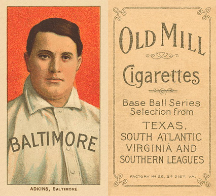 1909 White Borders (Old Mill) Doc Adkins #5 Baseball Card