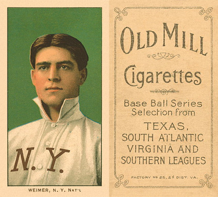 1909 White Borders Old Mill Weimer, N.Y. Nat'L #501 Baseball Card